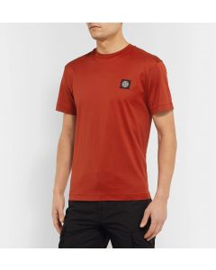 Rød polo t-shirt